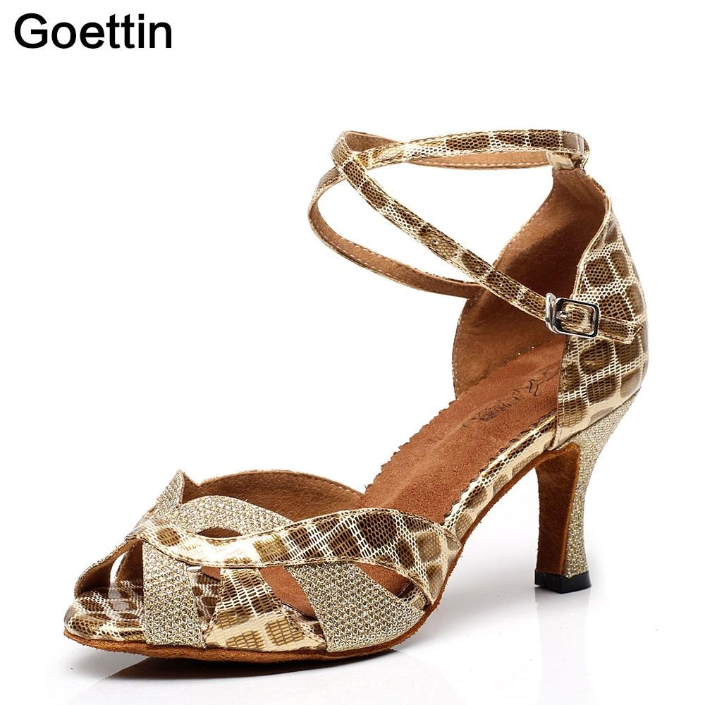 2017 Nya Brand Goettin 7091 Högkvalitativa Latin Dance Shoes Women