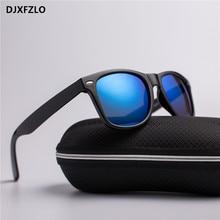DJXFZLO новые унисекс светоотражающие винтажные солнцезащитные очки мужские брендовые заклепки