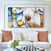 100% Hand Painted Abstract Big Feather Art Painting On Canvas Wall Art Wall Adornment Pictures Painting For Live Room Home Decor bering 11927 369