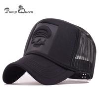 Pump Queen 2018 Hip Hop Skeleton Print Curved   Baseball     Caps   Summer Mesh Snapback Hats For Women Men casquette Trucker   Cap