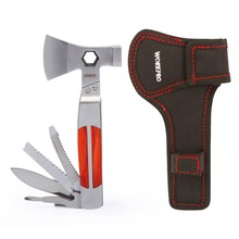 12-IN-1 DELUXE Heavy Duty Multifunctional Tool Hammer Axe with Knife Saw Screwdriver Outdoor Camping Survival Tools
