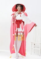 TITIVATE Women's Japanese Cartoon Anime Onmyoji Cosplay Costume The Peach Blossom Banshee Vantage Kimono Fancy Dress Uniform NEW