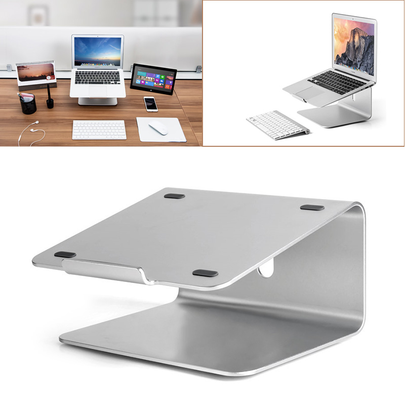 360 Degree Rotating Adjustable Aluminum Laptop Stand Desk Holder Bracket for 11-17 inch Notebook Tablet Holder EM88 aluminum laptop stand adjustable lapdesks with cooling tablet dock holder bracket for mac 10 11 12 13 15 17 notebook
