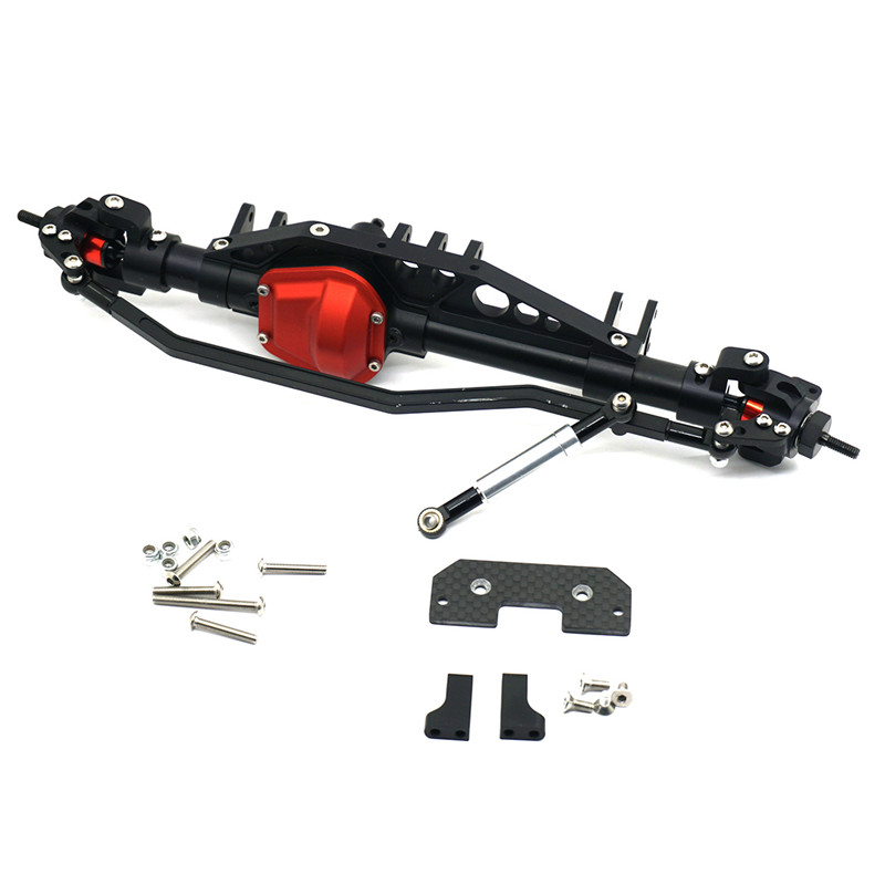 High Quality 1/10 RC Crawler Car Full Alloy Front Axle For Axial Wraith 90018 90048 90053 Free Shipping 2 2inch wheel rims for wraith rc4wd 8 spoke alloy beadlock 1 10 crawler car 2 2 wraith wheels high quality