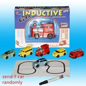 Image 5 - Gorące pojazdy inżynieryjne Mini magiczna zabawka ciężarówka dziecięca indukcyjna zabawki ciężarówki rysunek cysterna pióro rysuj linie indukcyjny wagon kolejowy