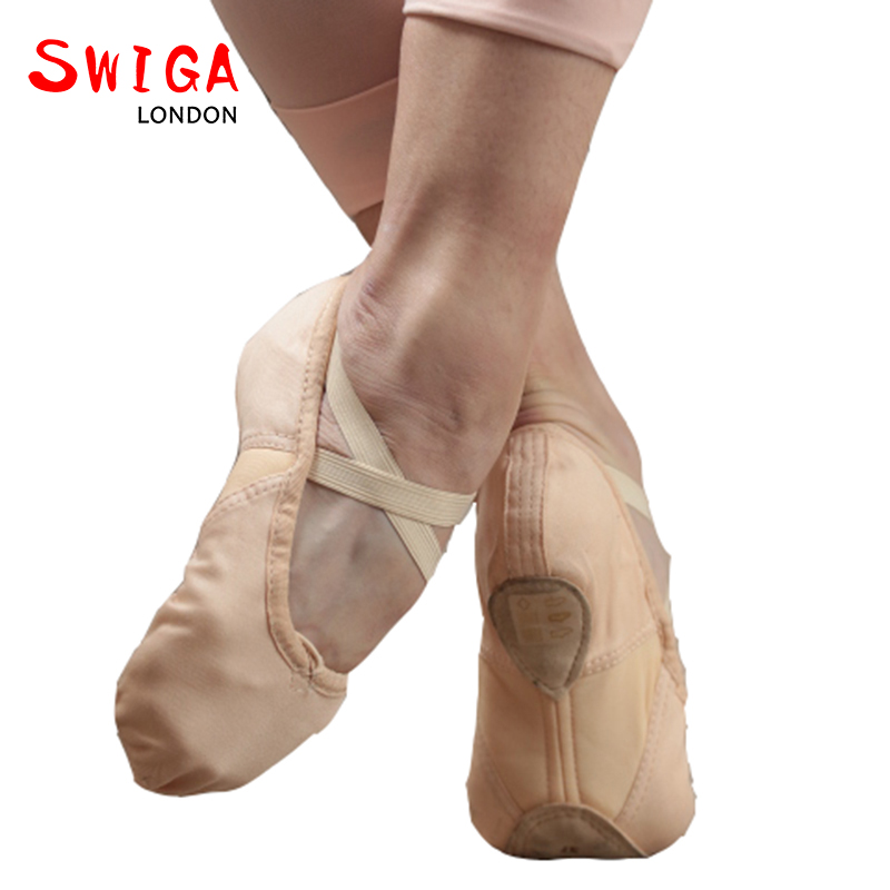 SWIGA cotton vamp with arch elastic ballet dancing shoes for women