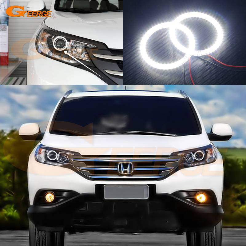 For honda CR-V CRV 2012 2013 projector headlight Excellent led Angel Eyes Ultra bright smd led Angel Eyes Halo Ring kit led headlight lights angel eyes