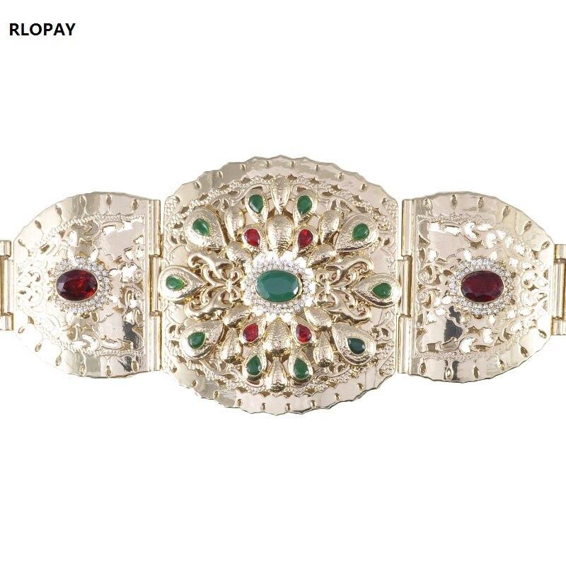 Traditional Morocco Caftan Belt For Abaya Women Fashion Waist Chain Luxury Colors Stone Jewelry Belts