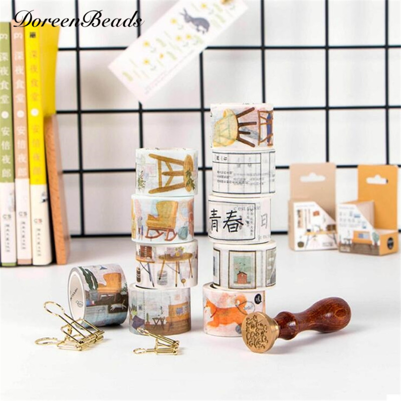japanese office furniture. Office DIY Washi Tape Japanese Stationery Living Furniture Series Decorative Scotch Tapes Scrapbooking Masking Adhesive Stickers L