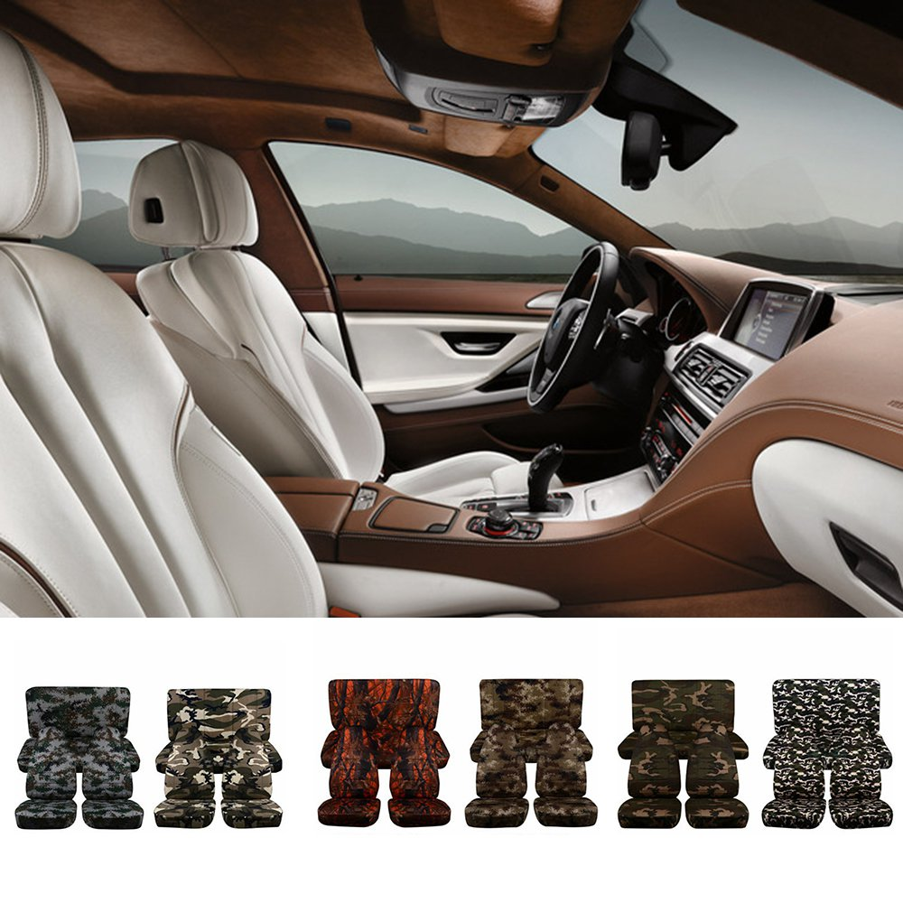 Random Color 2 PCS Camouflage Front Seat Universal Car Seat Covers Auto Interior Styling Decoration Protect Fit Car Accessories
