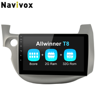 Navivox автомобиля радио плеер Android 8,1 Android Мультимедиа gps для HONDA FIT JAZZ 2007 2008 2009 2010 2012 (без dvd)