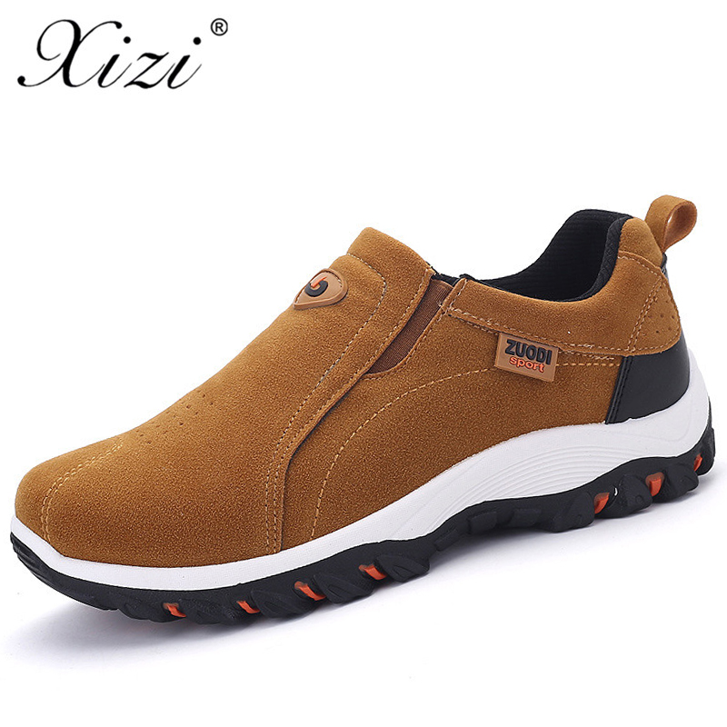 XIZI Brand Men Casual Style Shoes Male Handmade Soft Moccasins Loafers High Quality Leather boat shoes Men Flats Driving Shoes high quality genuine leather men shoes lace up casual shoes handmade driving shoes flats loafers for men oxfords shoes