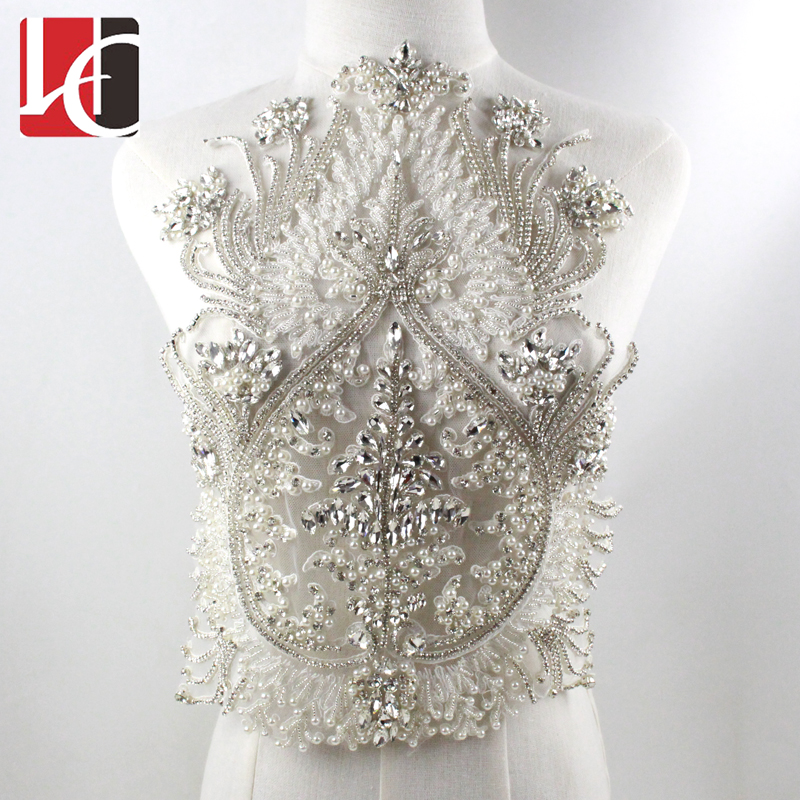 New Fashion Rhinestone Applique For Wedding Dress Accessories