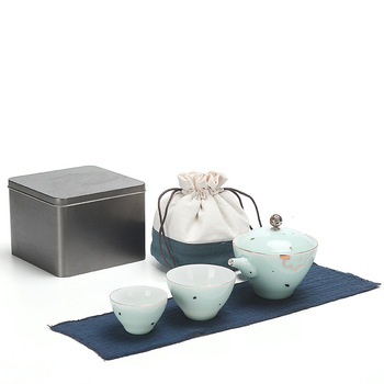 Two cups of car Outdoor Travel Portable Kung Fu tea set high-end business gifts customization