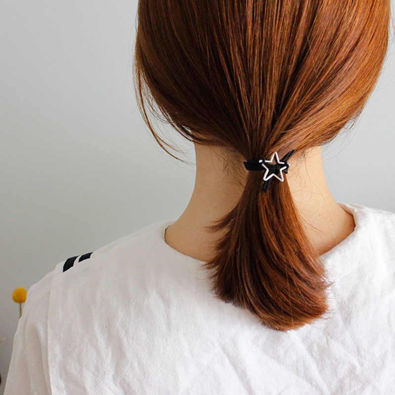 ISINYEE 調節可能なミニマリストハートスターチャーム女の子のための黒ロープ編組ブレスレットジュエリーベストフレンズギフト