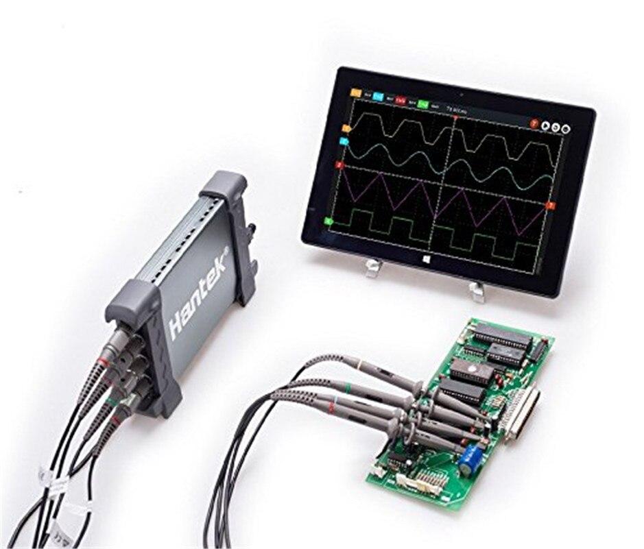 Hantek 6254BD 4 Canaux 250 Mhz Bande Passante Osiclloscope Numérique USB PC Portable Osciloscopio avec 25 Mhz Signal Générateur