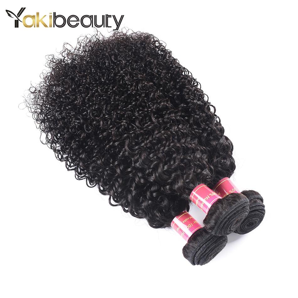YakiBeauty Hair afro kinky human hair Weave Bundles 3PCS/Lot Remy Peruvian Hair Bundles Deals Natural Black Hair Can Be Mixed