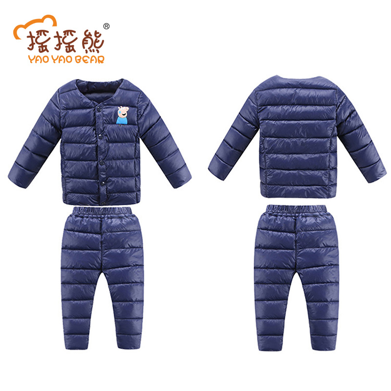 New Winter Children Clothing Sets Duck Down Jacket Sets Baby Girls & Baby Boys Down Coats Set With Pants Kids Clothes lonsant clothing sets children winter
