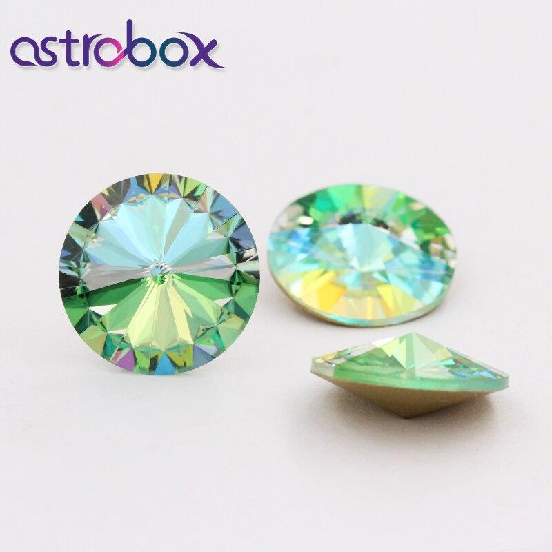 Pierres en verre cristal pierres Rivoli | Strass pour vêtement, gule sur vêtement, applique pierres pour bijoux fabrication 5 pièces