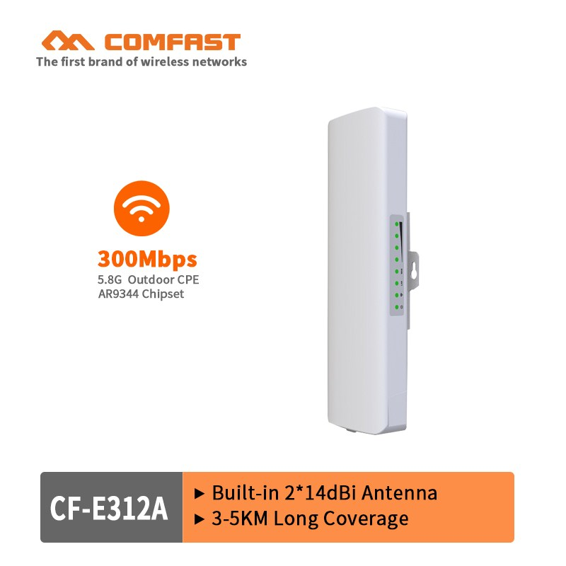 300Mbps wifi range extender repeater waterproof Antenna wifi 5.8Ghz high power wireless bridge POE CPE access point base station lafalink pw300s48c 300mbps 2 4g wireless inwall poe access point 48v wifi extender