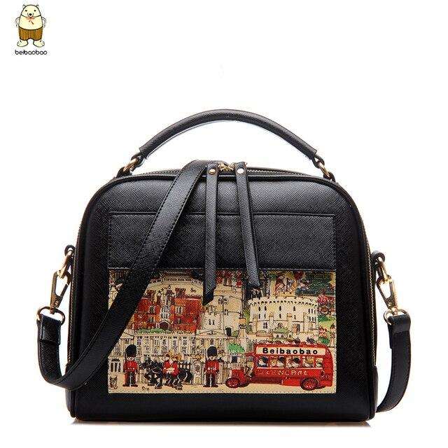 Womens bags 2017 Hot Korean Fashion High Quality Cartoon Graffiti Printed Ladies Messenger Shoulder Bags