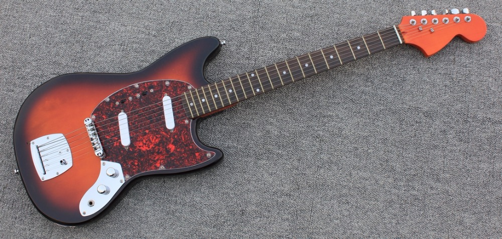 Free Shipping High end quality Sunburst Tortoise pickguard Jaguar  electric guitar Guitarra all color Accept human free shipping new guitarra ricken