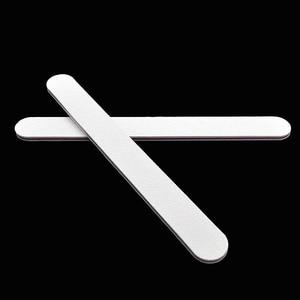 Image 4 - 100Pcs מקצועי לבן פצירה הצפת מרוט 100/180 UV ג ל לטש נייר זכוכית מניקור פדיקור ציפורניים מניקור אמנות כלים