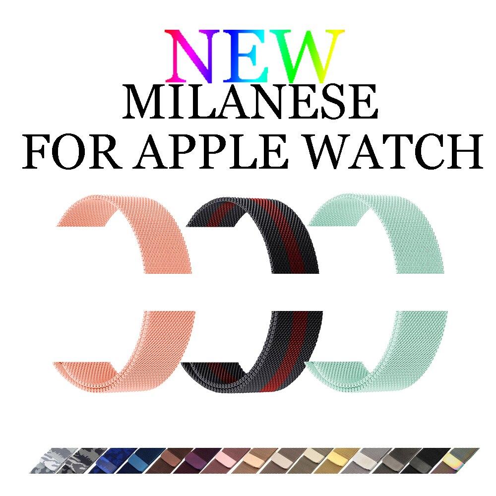 CRESTED Milanese schleife strap für Iwatch Apple uhr band 42mm/38mm 3/2/1 edelstahl stahl Link Armband Magnetische schnalle armband