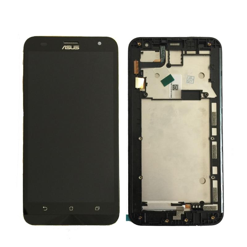 100% D'origine D'essai Pour ASUS Zenfone 2 Laser ZE551ML ZE550KL ZE500KL Z00LD Lcd avec Écran Tactile Digitizer Assemblée Avec cadre