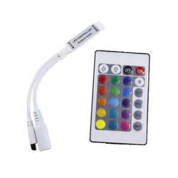 DC 12 В RGB светодио дный контроллер мини 24 клавиши RGB ИК-пульт дистанционного управления для 3528 или 5050 RGB светодио дный полосы маленький