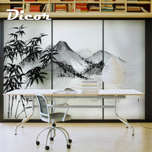 Stained Static Cling Window Film Frosted Opaque Privacy Glass Sticker Home Decor Digital print BLT1272 Misty Rain