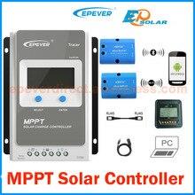EPever MPPT 40A/30A/20A/10A Солнечный контроллер заряда черный-светильник ЖК-солнечный регулятор для 12 В 24 В свинцово-кислотных литий-ионных батарей