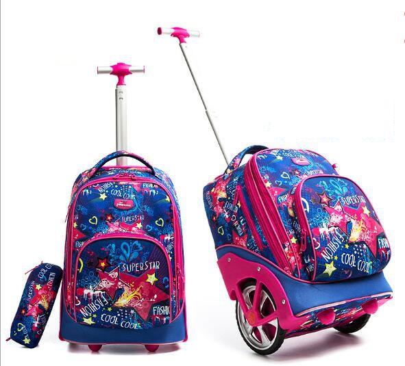 Bolsas de mochilas para adolescentes bolsa de mochila con ruedas de 18 pulgadas para mochila escolar con ruedas de equipaje para niños-in Carteras escolares from Maletas y bolsas    1