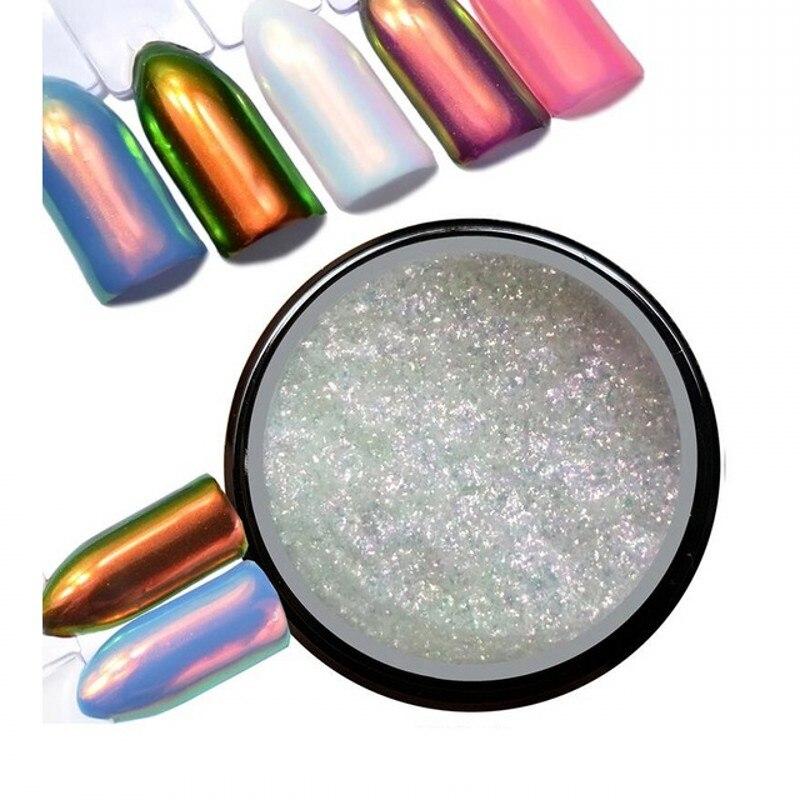 0 2Gram Box Neon Aurora Pigment Unicorn Powder Nail Art Chrome Pigment Mermaid Powder DIY Nail Glitter Dust in Nail Glitter from Beauty Health