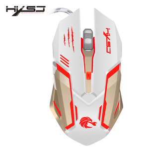 Image 5 - HXSJ Mechanical Game Mouse S100 5500 DPI 6 Button Colorful LED Backlit Light USB Wired Optical Gaming Mouse