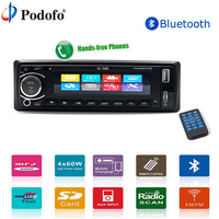 Podofo 4 Autoradio Car Radio 12V Bluetooth Car Stereo In Dash 1 Din USB AUX FM