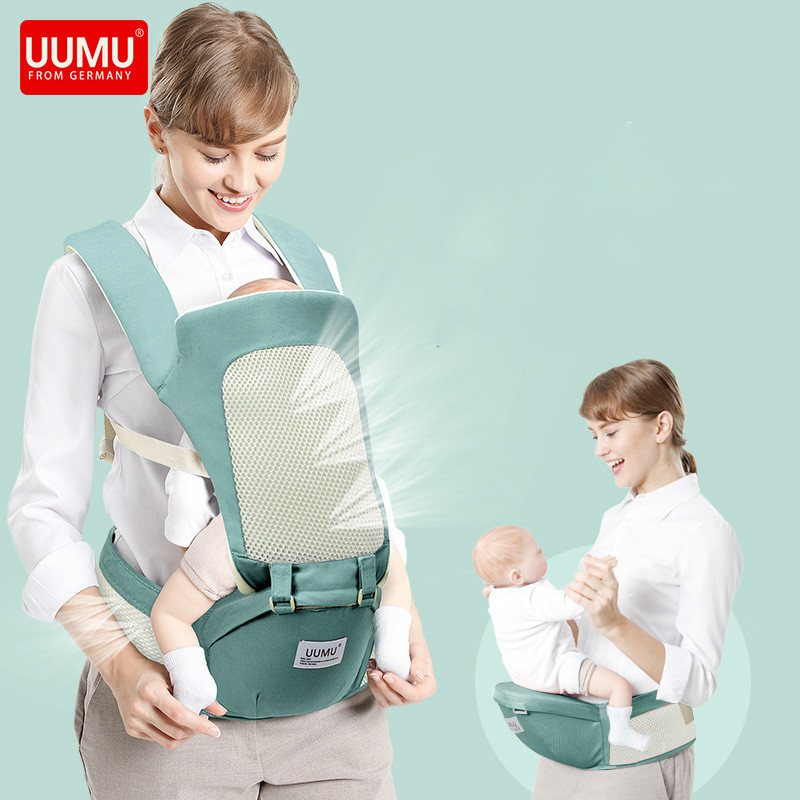 UUMU 0-36Months Breathe Free Cotton New Born Baby Backpack Hip Seat Carrier Slings Wrap Front Facing Back Carry Loding 36KG arrivals 1 36kg