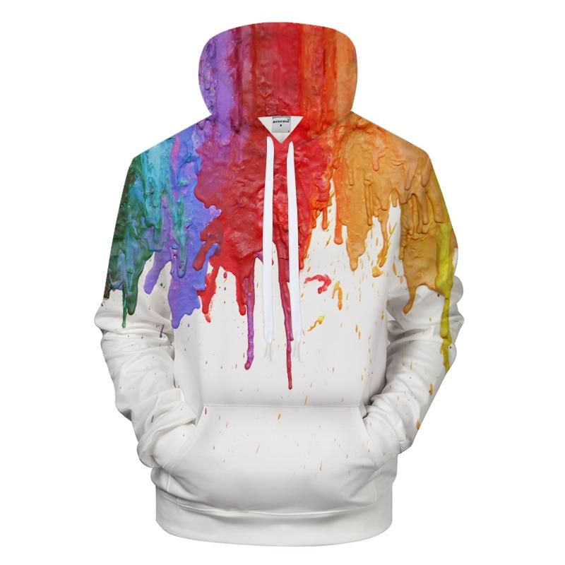 Colorful Ink 3D Hoodies Men Women Hoody Art Sweatshirts Autumn Tracksuit Harajuku Coat Streatwear Hoodie Asian size s-6xl