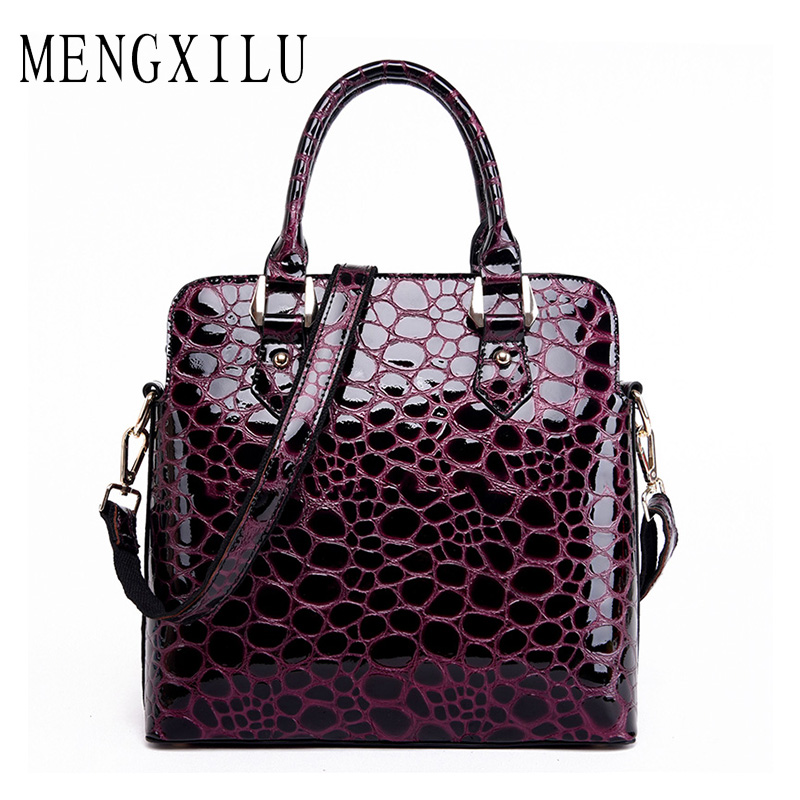 MENGXILU Genuine Leather Bag Famous Brands Ladies Hand Bags Fashion Women Handbags Designer High Quality Women Bag Shoulder Bags qiaobao 100% genuine leather handbags new network of red explosion ladle ladies bag fashion trend ladies bag