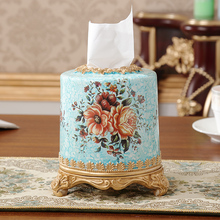 Europe type restoring ancient ways resin tissue box table napkin wipe boxes sitting room hotel high-grade paper roll film packs(China)