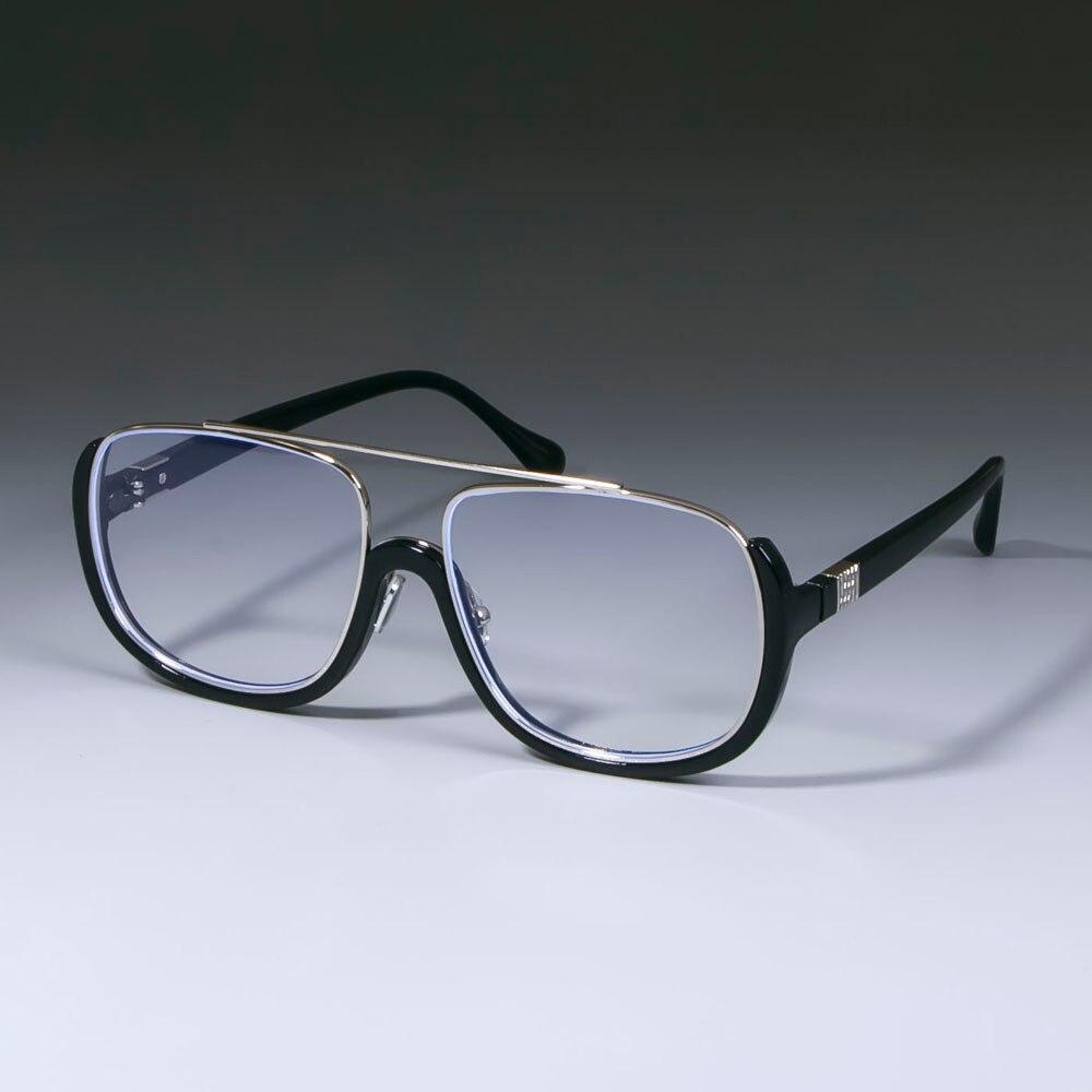Half Frame Square Glasses Frames Men Women Optical Fashion Computer Glasses 49020