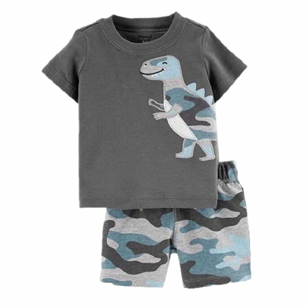 Camouflage Baby Boys Clothes Suit Summer Dino T-Shirts + Camo Shorts Pants Sets Casual Boy Outfit Cotton Sets Tops 6 9 12 18 24M