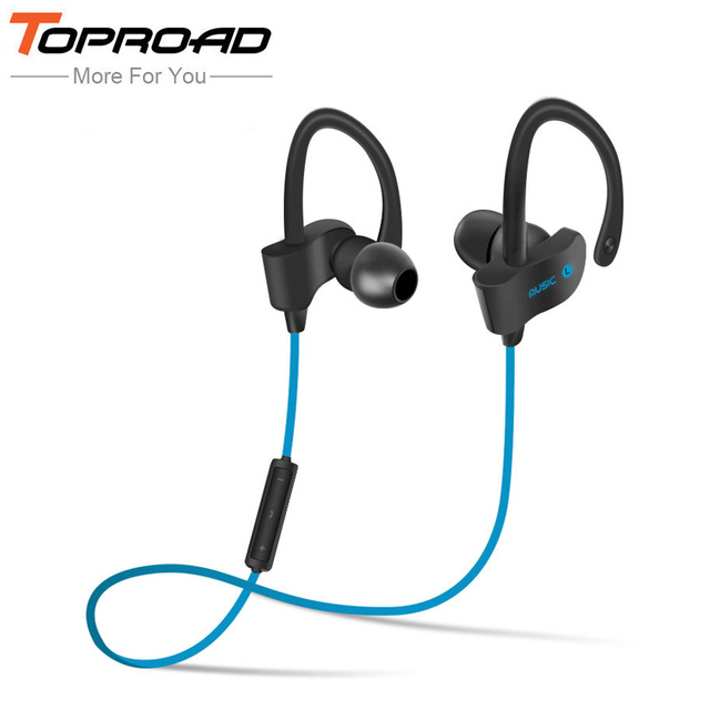 TOPROAD Wireless Bluetooth Earphones Auriculares Headset Bass Sound Handsfree With Mic fone de ouvido for Xiaomi Mobile Phones
