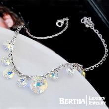 Marca de la Venta caliente Pulsera del Acoplamiento de Cadena Pulseras Para Las Mujeres Cristales de Swarovski Cristal Bijoux Joyería Fina