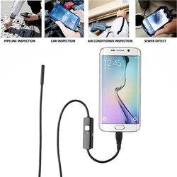 6LED 5.5mm kamery do telefonu komórkowego endoskop inspekcja Micro USB z systemem Android endoskop do telefonu 1M 2M 3.5M HD720P małe Cemera w Obiektywy do telefonów komórkowych od Telefony komórkowe i telekomunikacja na