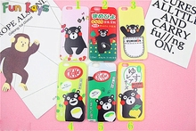Fun Kays Lovely Kawaii Black Bear Red Face Couple Lovers Letters Lemon Juice Soy Milk Singing Happy Green Tea Soft 6 7 Phonecase(China)