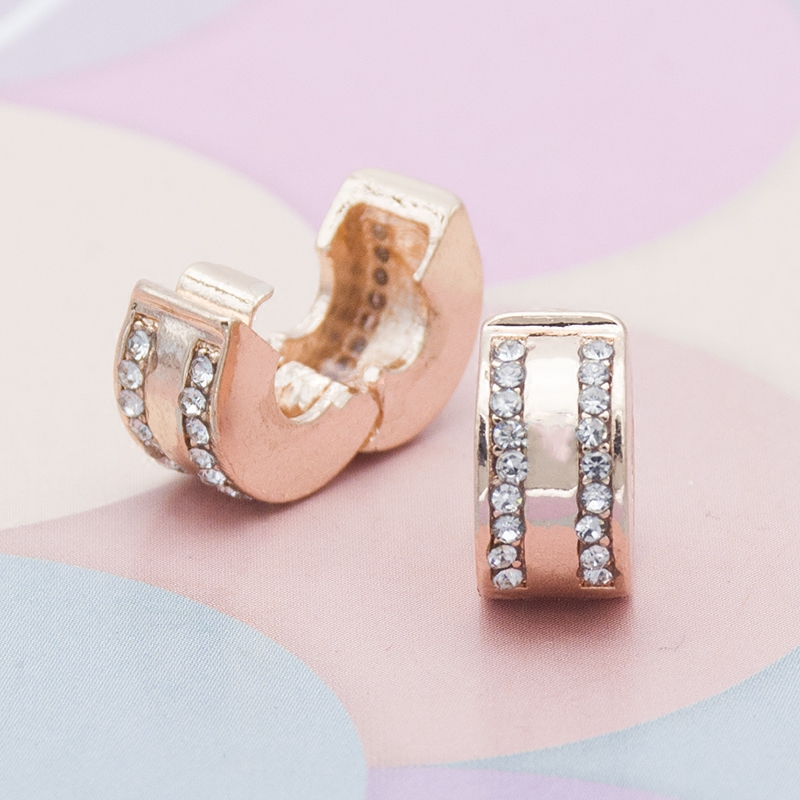 Piling DIY Jewelry Accessories Rose Gold Diamond Positioning Buckle