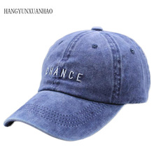 New Fashion CHANCE Letter Embroidered Baseball Cap High Quality Casual Hat Man Woman Adjustable Washed Cotton Vintage