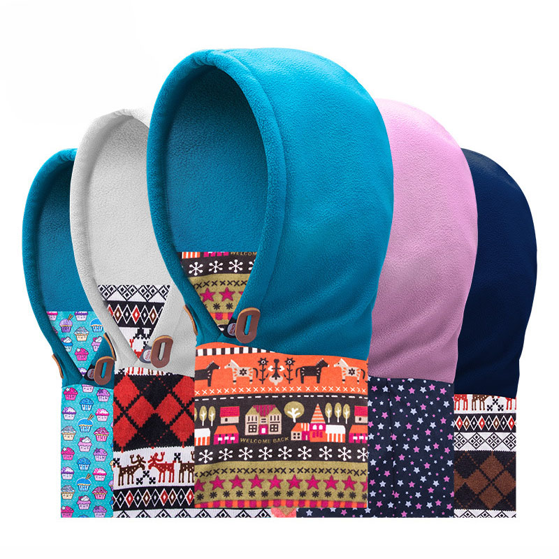 Kids Cap Full Face Mask Balaclava Hat Hood Cover Scarf Neck Hats Childred Winter Sports Polar Fleece Warmer Caps 10 Colors