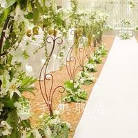wedding Iron road lead wedding flower rack flower stand 10pcs/lot